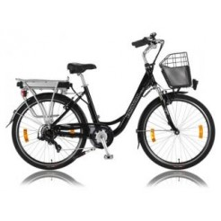 E-Motion Prelude D42cm 26 inch E-bike Black Derr 7 Speed