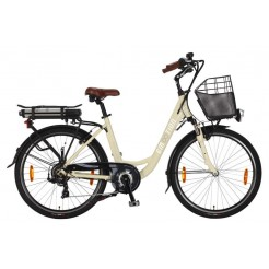 E-Motion Prelude D42cm 26 inch E-bike Creme Derr 7 Speed