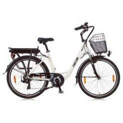 E-Motion Prelude D42cm 26 inch E-bike White Derr 7 Speed
